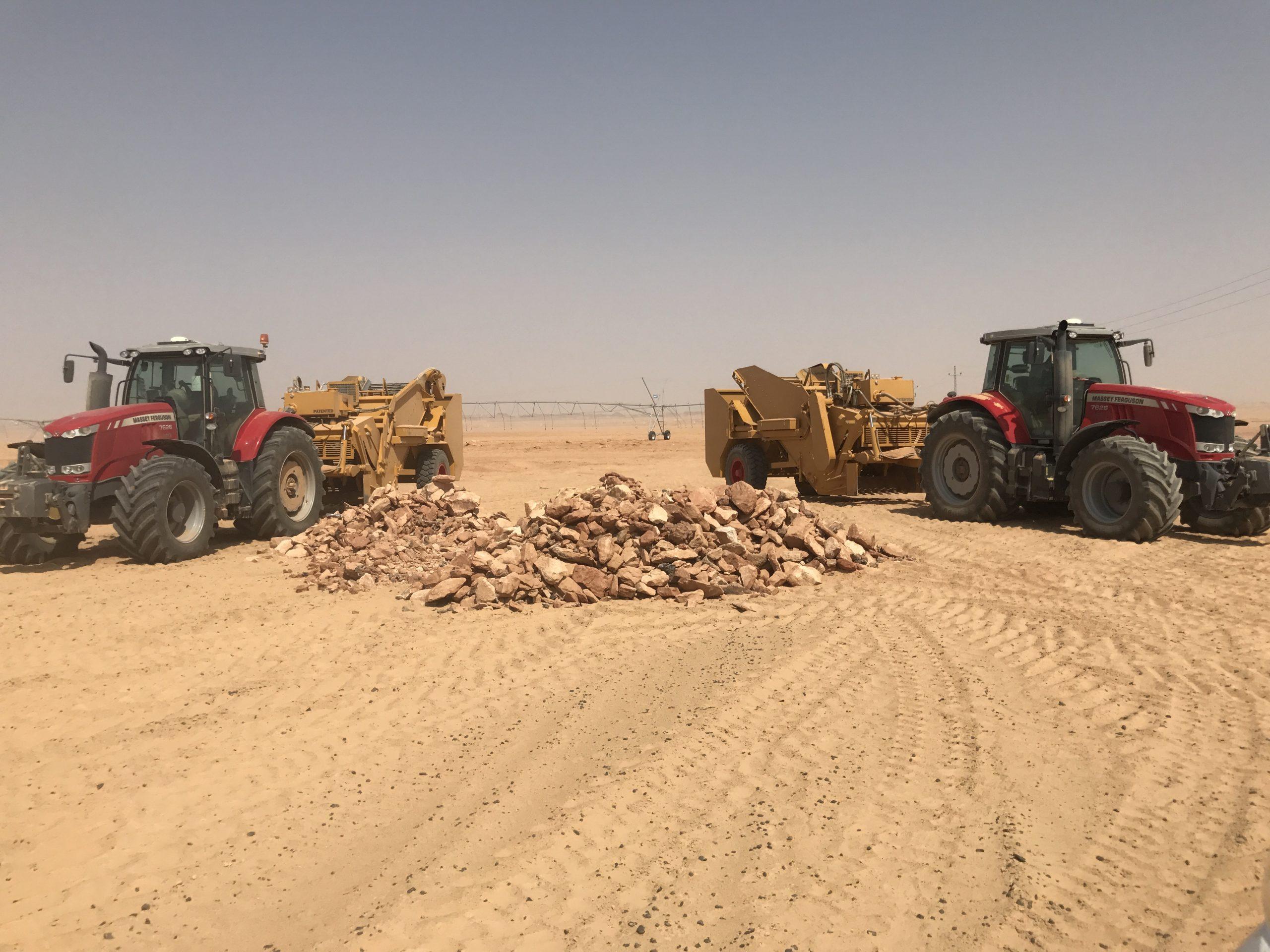 Despedregadoras Triginer en el mayor proyecto agroindustrial de Egipto.